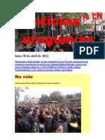 Noticias Uruguayas Lunes 30 de Abril de 2012
