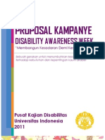 Proposal Kampanye Disabilty Awareness Week