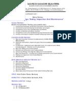 Silabus Pipiline - Design, Testing, Inspection& Maintenance