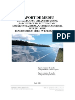 Raport de Mediu PUZ Parc Energetic Fotovoltaic Hosman Final