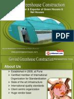 Govind Greenhouse Construction Maharashtra  India