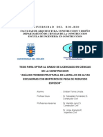 Tesis - Análisis termoestructural de ladrillos de altas escuadrías con morteros de pega de reducido espesor - C. Torres (2004) U. Bio Bio