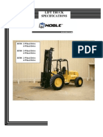 Forklift Specifications