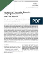 Magnesium for Treatment of Depression