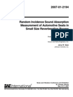 Random Incidence Sound Absorption Measurement of Automotive Seats in Small Size Reverberation Rooms