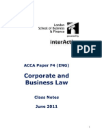 ACCA F4 Notes
