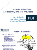We Don't Know What We Know - Adult Learning & Tacit Knowledge
