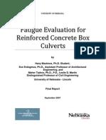 Fatigue Report Reinforced Concrete Box Culbert