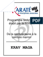 Programme Technique Krav Maga