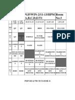 Dynamic Schedule T3