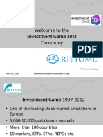 The Investment Game'12 Ceremony
