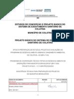 ESTUDOS DE CONCEPÇÃO E PROJETO BÁSICO DO SISTEMA DE ESGOTAMENTO SANITÁRIO DE COLATINA