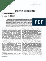 BILLICK, 1981, Lead - A Case Study in Interagency...