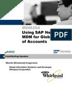 MDM204+ +Using+SAP+NetWeaver+MDM+for+Global+Chart+of+Accounts