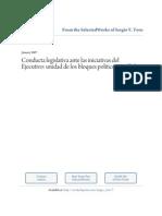 Conducta Legislativa Ante Las Iniciativas Del Congreso