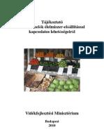 Tájékoztató a kistermelők élelmiszer-előállítással kapcsolatos lehetőségeiről