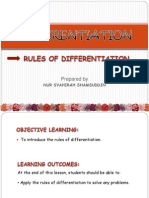 Rules of Differentiation