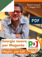 Brochure elettorale Marco Invernizzi Sindaco