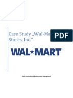 an introduction to strategic management of wal mart stores inc Wal-mart introduction and business  chain management  strategic linked  chief financial officer for wal-mart stores, inc  wal-mart's system can work.