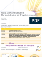 NSN as IP Solution Integrator - Presentation for Customers