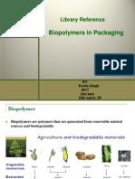 Kavita Singh Presentation Pp-Biopolymer