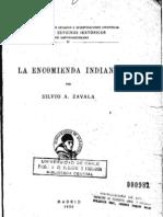 Silvio Zavala - La Encomienda Indiana