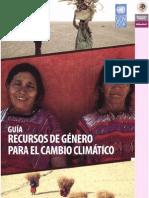 Guia Recursos de Género para el Cambio Climático