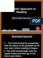 Linguistic Approach to Reading