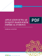 Application of Wa'Ad in Equity Based Sukuk Empirical Evidence