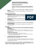 Qualification Advt 05 2012 January 2