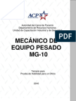 Mecanico Equipo Pesado Mg 10