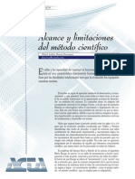 Alcance y limitaciones del método científico (ACTA)