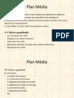 Modèle de Plan Média