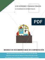 MODELO DE DOCUMENTO BASE DE CONTRATACIÓN A