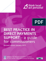 Best Practice in Direct Payments Support