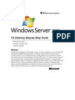 Windows Server 2008 TS Gateway Server Step-By-Step Setup Guide