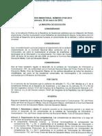Acuerdo Ministerial 0745-2012