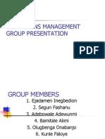 Operations Management Group Presentation-Aj