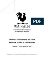 Snowfall and Demand for Snow Removal Products and Services