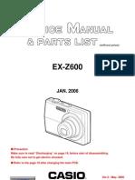 Casio exz600service