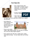 Holst Facts Pages