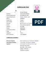 Curriculum Vitae Enrique Oswaldo Santa Gadea