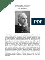 Criticismul Junimist-t Maiorescu