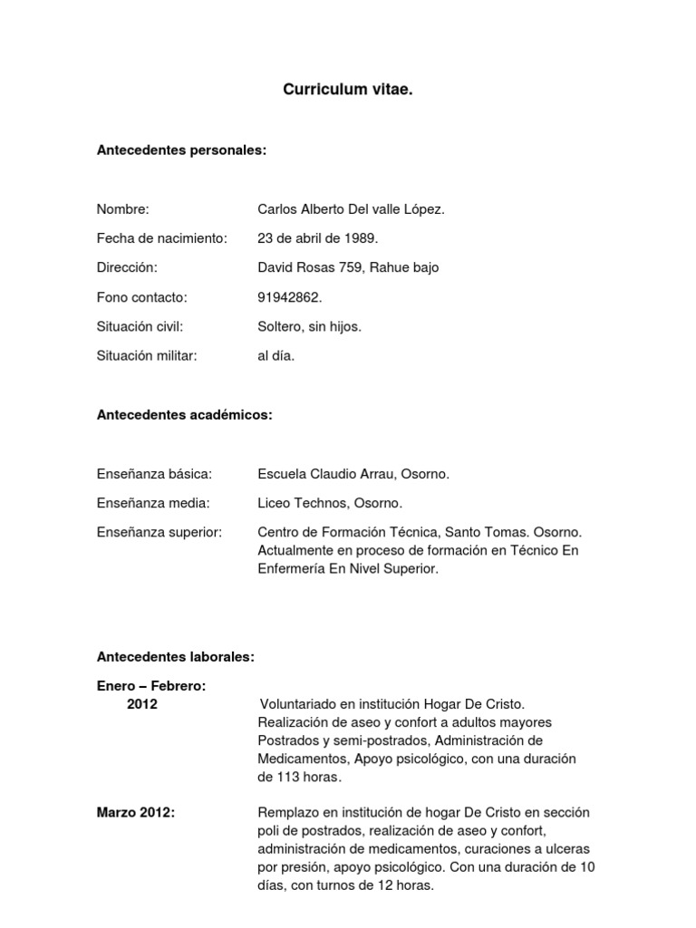 Famoso Plantilla De Curriculum Vitae Militar A Civil Componente ...