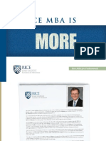 RICE Proffesional MBA Info