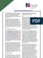 RCN Briefing Note - 1 May Health Board Finances
