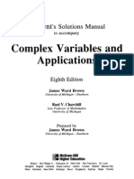 Student's Solution Manual to Complex Variables and Applications 8th Ed