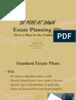 Estate Planning- De Pere at Dawn