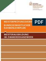 Rahmenlehrplan-Zimmermeister-2010