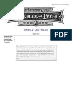 Warhammer Quest [Cards & Floor Plans] Catacombs of Terror